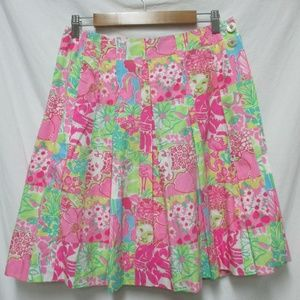 Lilly Pulitzer Vintage wrap skirt knee length 4